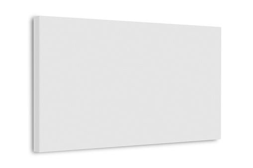 White blank canvas frame. 3d illustration