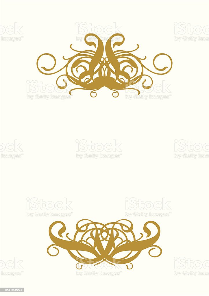 White Blank I royalty-free stock vector art