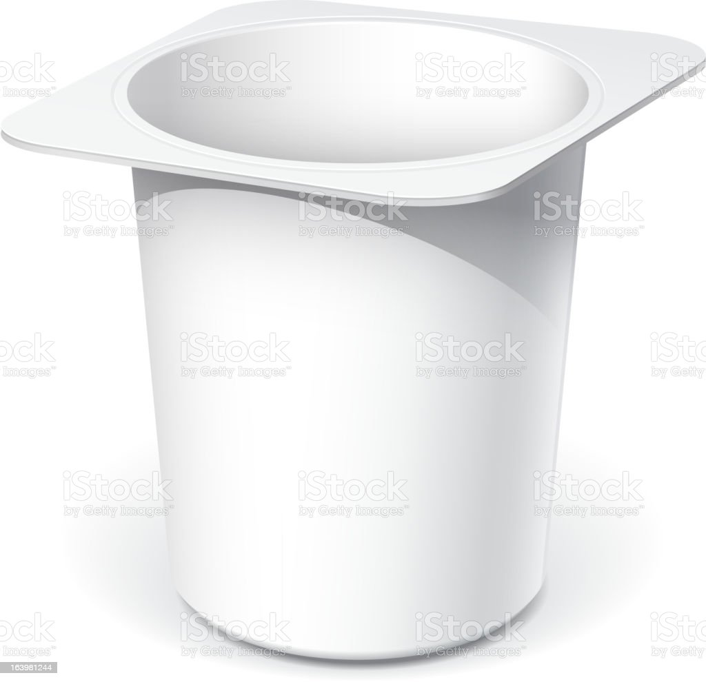 White blank plastic container royalty-free stock vector art