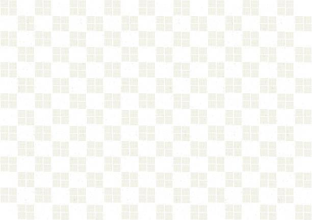 白の市松模様 ベクターアートイラスト