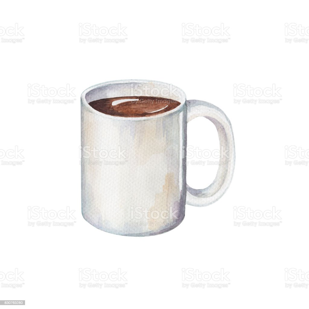 White Coffee Cup Handdrawn Illustration In Rh Istockphoto Com Vintage Cups Clip