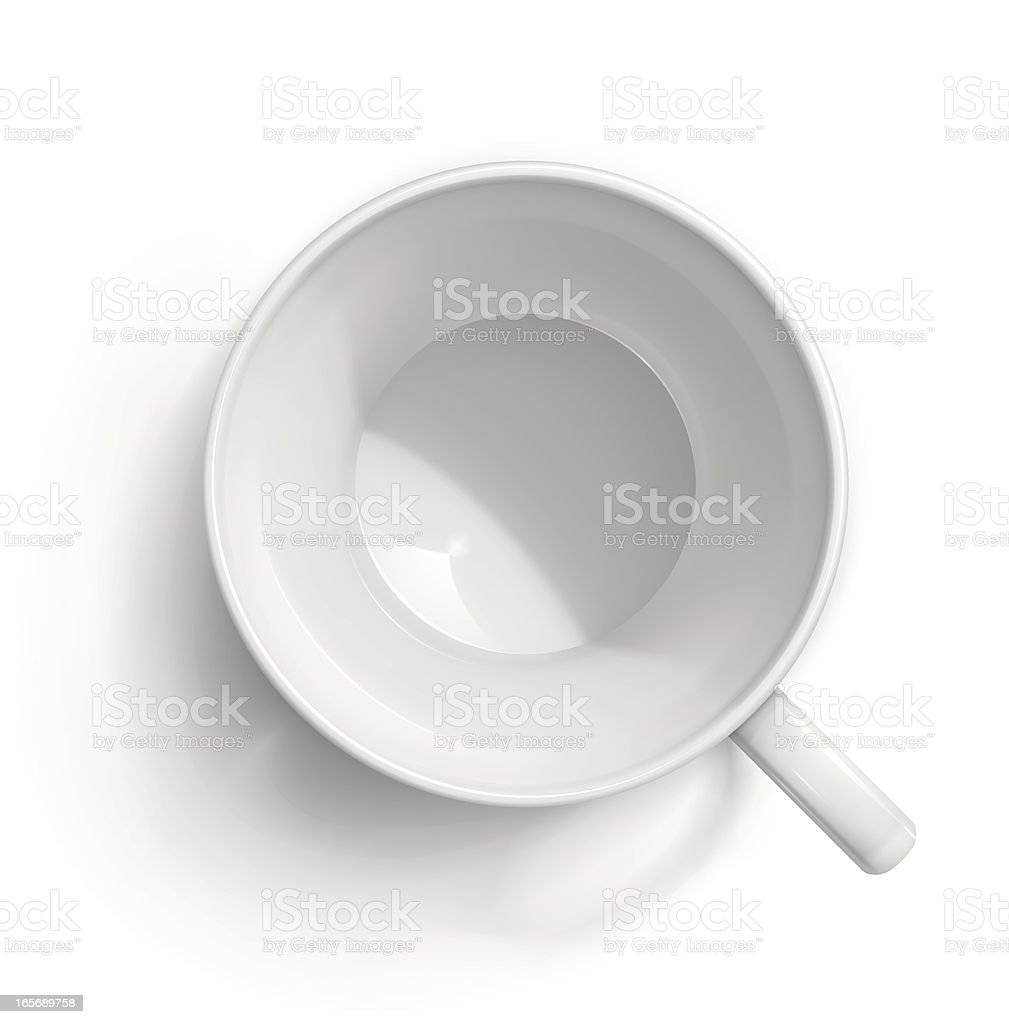 White coffee cup vector art illustration