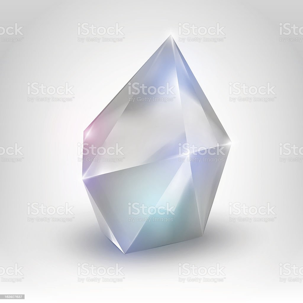 White crystal royalty-free stock vector art