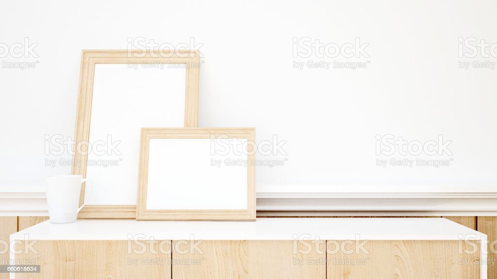 white cup and frame picture for artwork royalty-free white cup and frame picture for artwork stock vector art & more images of apartment