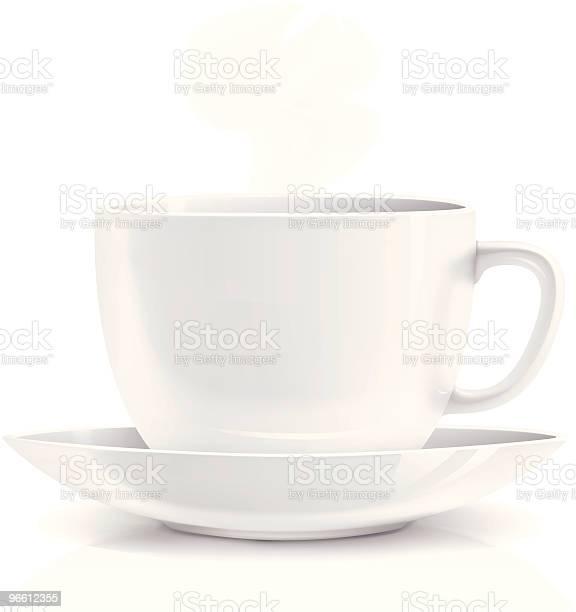 White Cup-vektorgrafik och fler bilder på Cappuccino