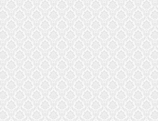 white damask pattern background - retro backgrounds stock illustrations, clip art, cartoons, & icons