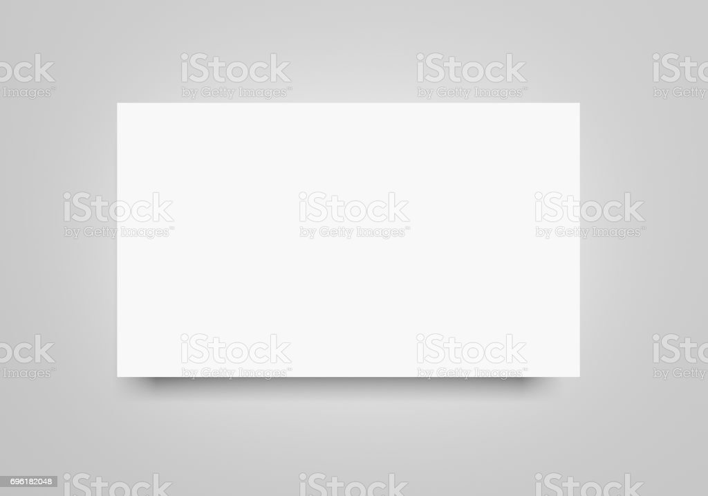 White Flat 3d Rendering Blank Banner Paper Sheet Mockup On Light