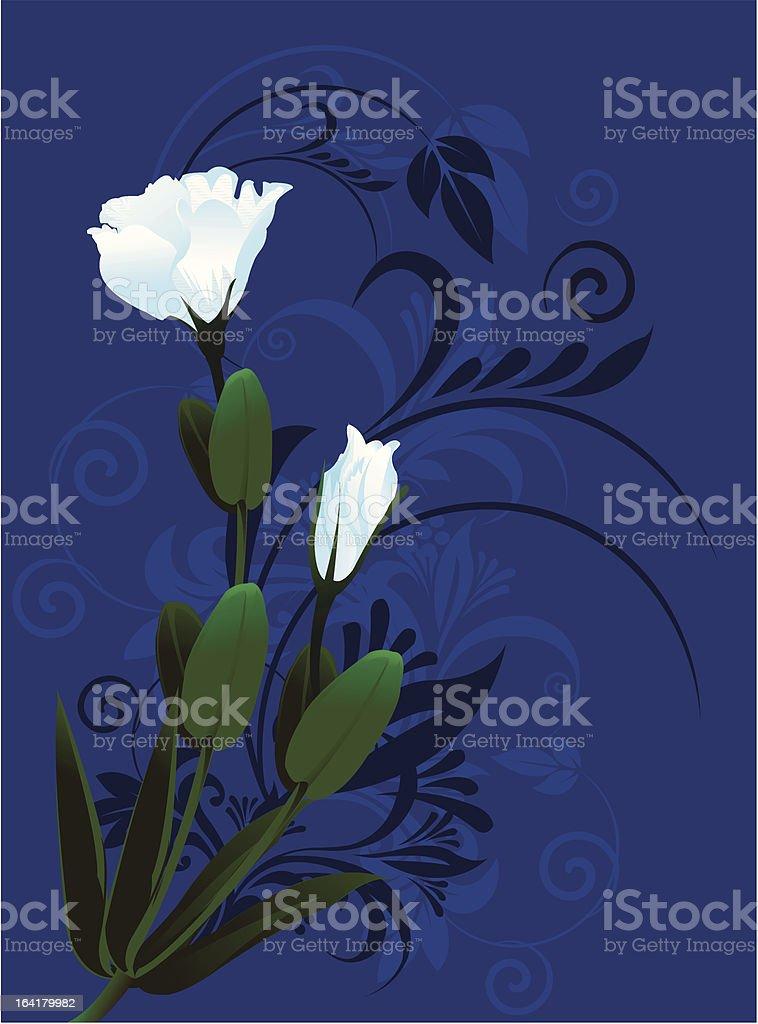 White flower royalty-free stock vector art