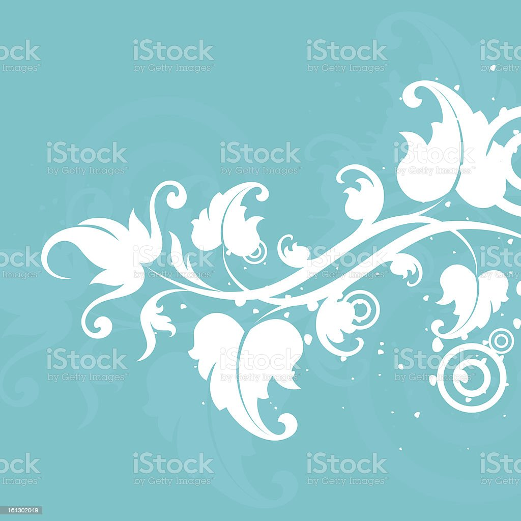 white flower royalty-free stock vector art