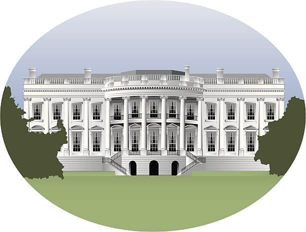 stockillustraties, clipart, cartoons en iconen met white house - white house
