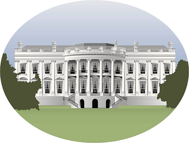 white 하우스 - white house stock illustrations