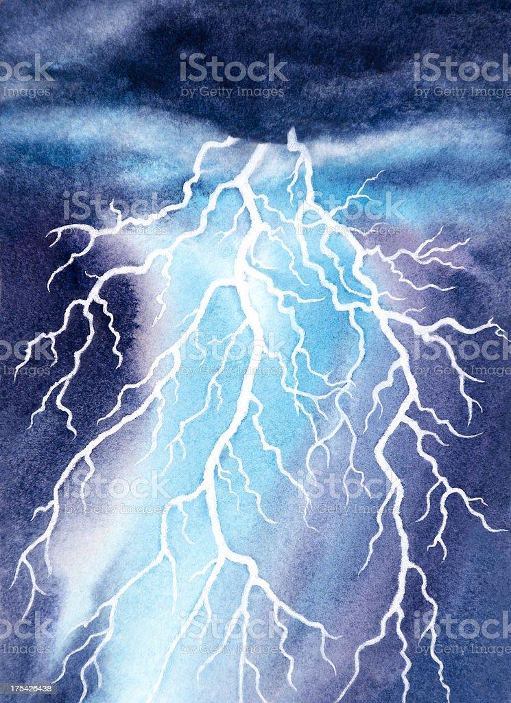 White Lightning royalty-free stock vector art
