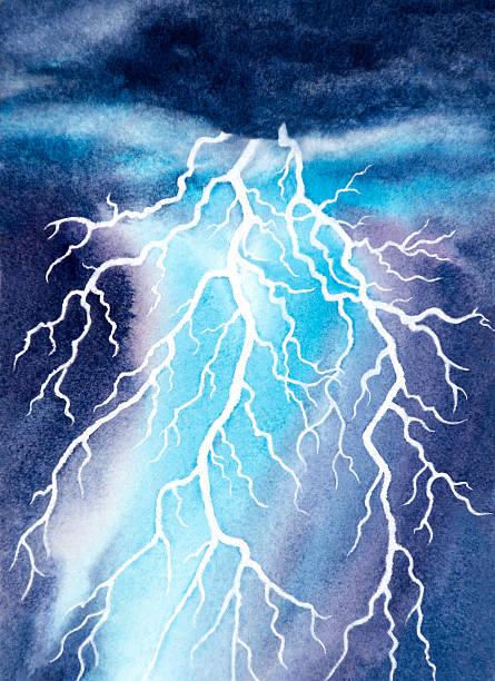 White Lightning vector art illustration