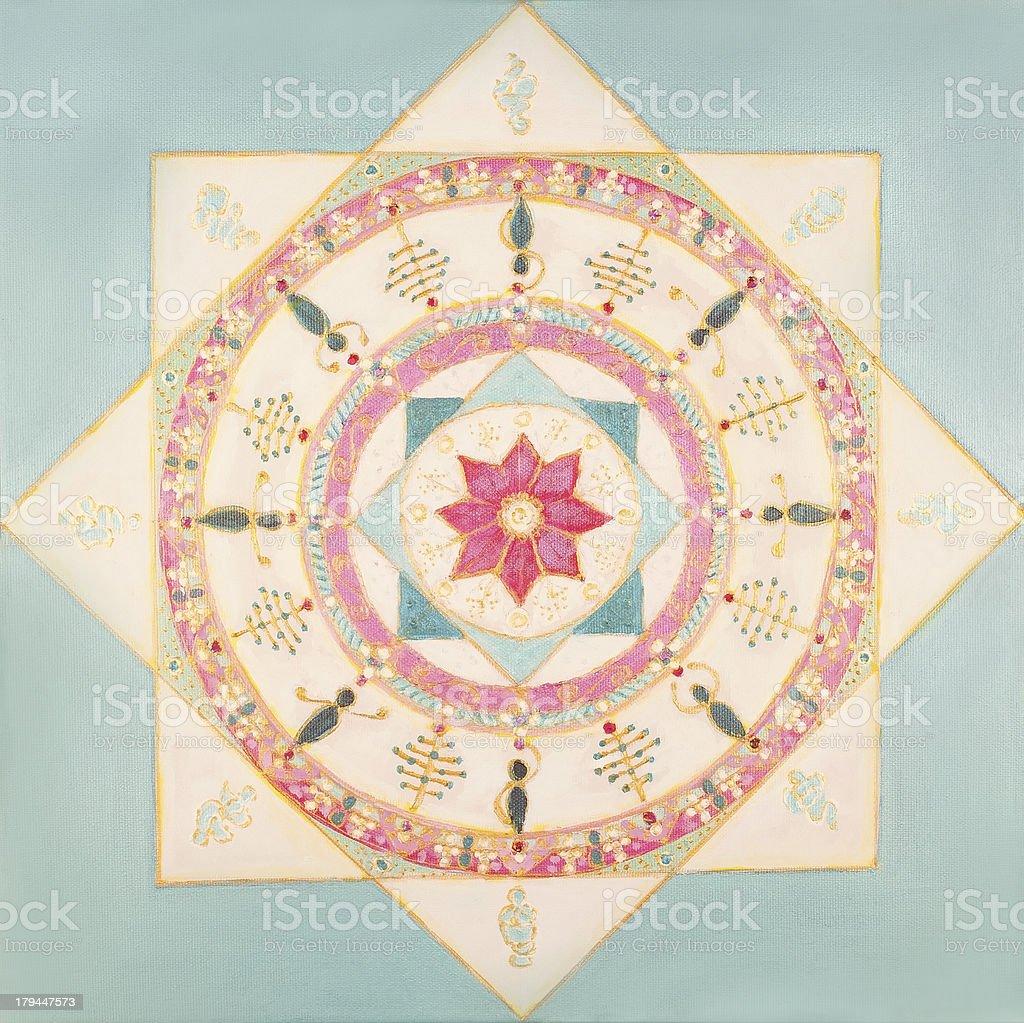 White Mandala royalty-free stock vector art