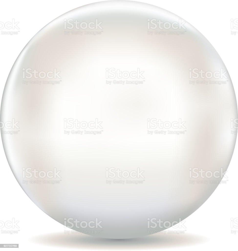 White pearl vector art illustration