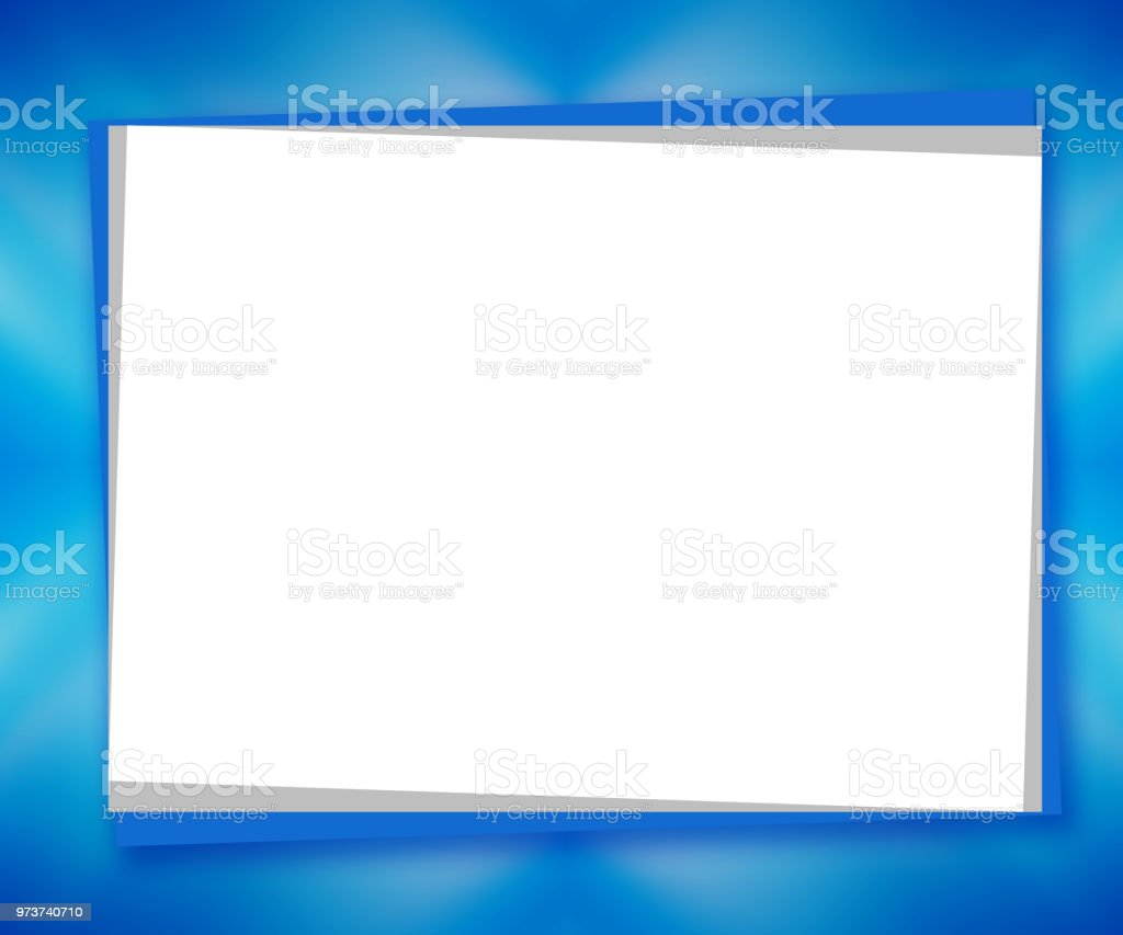 Ilustración de Pedazo Blanco De Papel Sobre Fondo Azul Abstracto ...