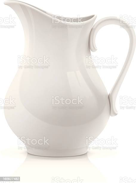 White Pitcher Stock Illustration - Download Image Now
