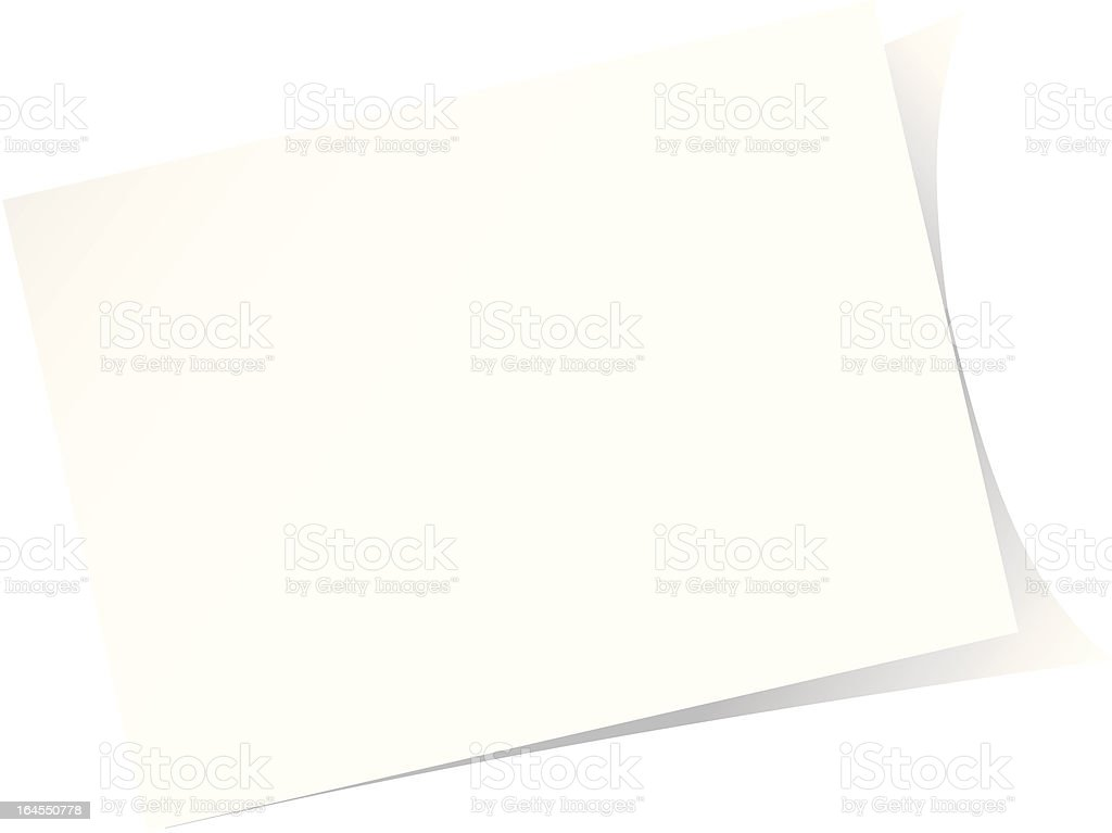 White post-it note royalty-free stock vector art
