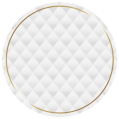 White quilted frame