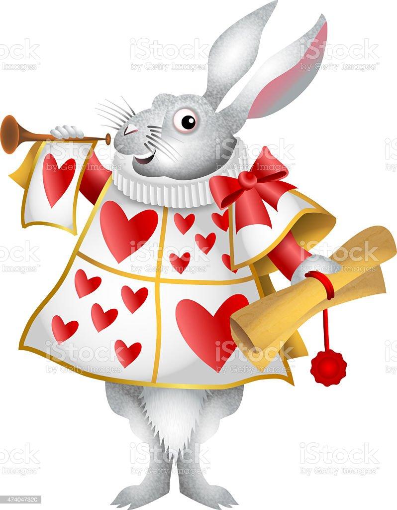 White Rabbit Herald - illustrazione arte vettoriale