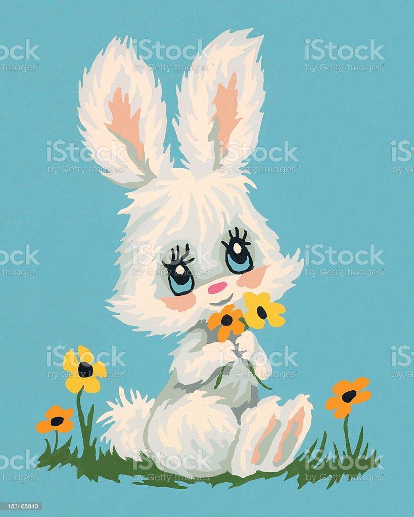 White Rabbit royalty-free stock vector art