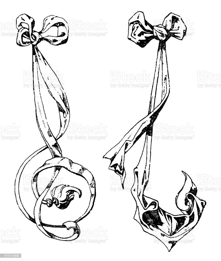 White Ribbons royalty-free stock vector art