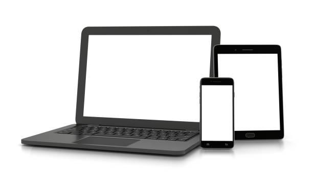 真っ白なエレクトロニクス デバイス - ワイヤレス技術点のイラスト素材/クリップアート素材/マンガ素材/アイコン素材