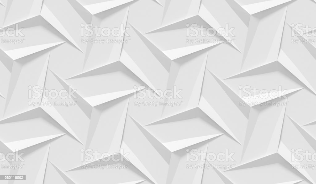 White Shaded Abstract Geometric Pattern Origami Paper Style 3d