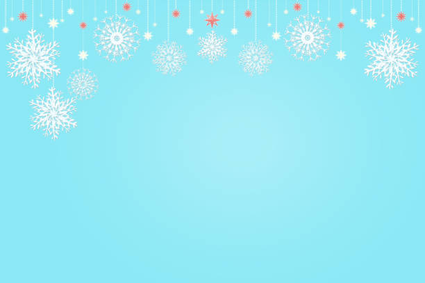 White Snowflake Decoration And Plain Color Background Stock Illustration Download Image Now Istock