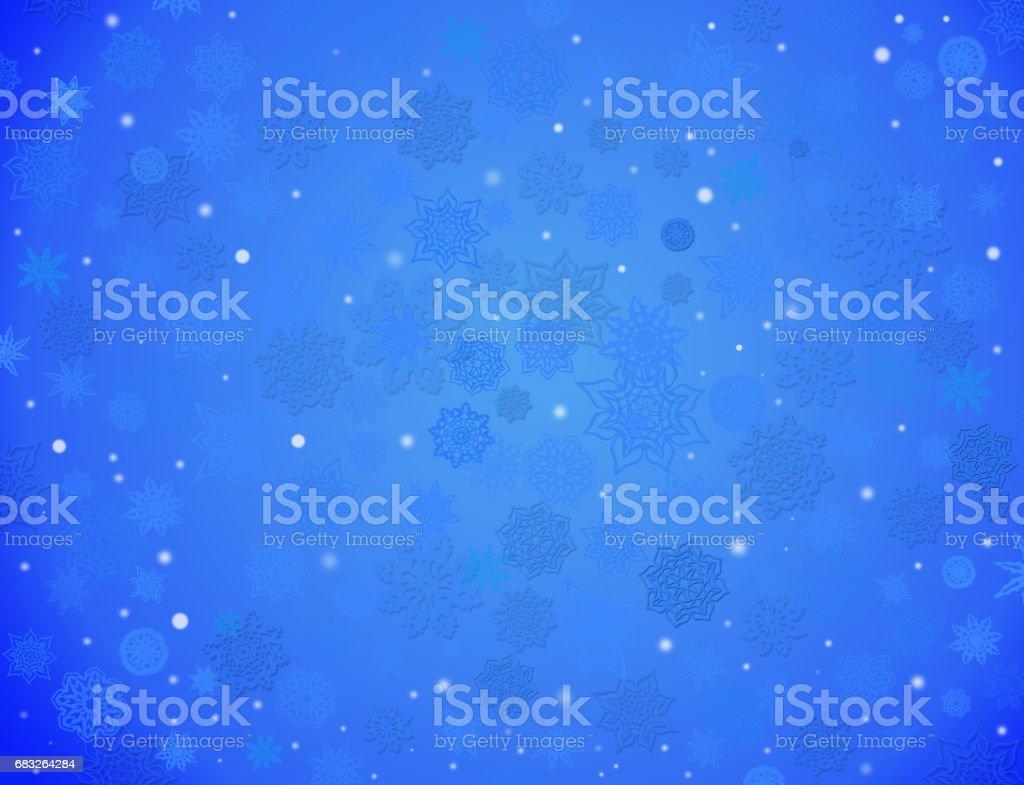 white snowflakes on the blue background white snowflakes on the blue background - arte vetorial de stock e mais imagens de a nevar royalty-free