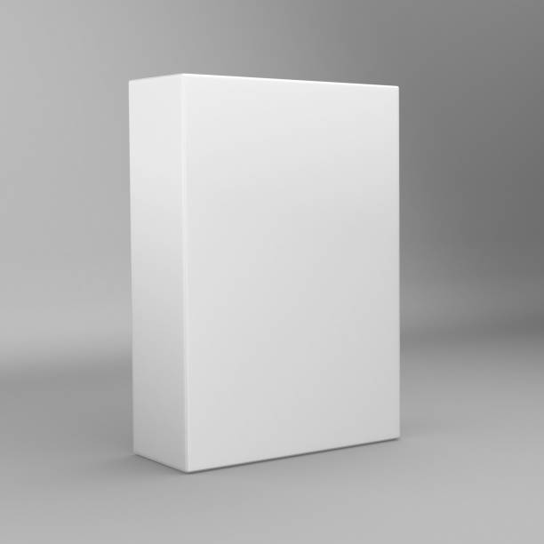 Bекторная иллюстрация White tall rectangle blank box isolated on white background.
