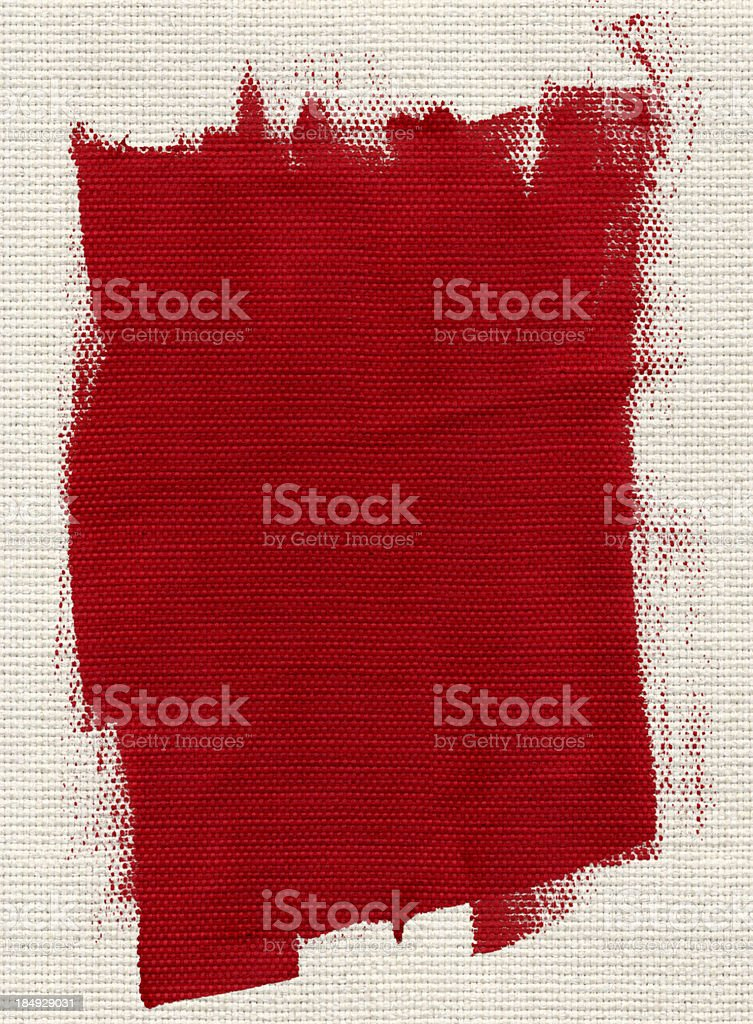 White Textile and Red Paint vector art illustration