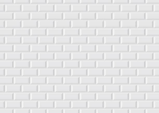 White tiled Parisian metro Illustration of the white tiled background like in the Parisian metro bathroom backgrounds stock illustrations