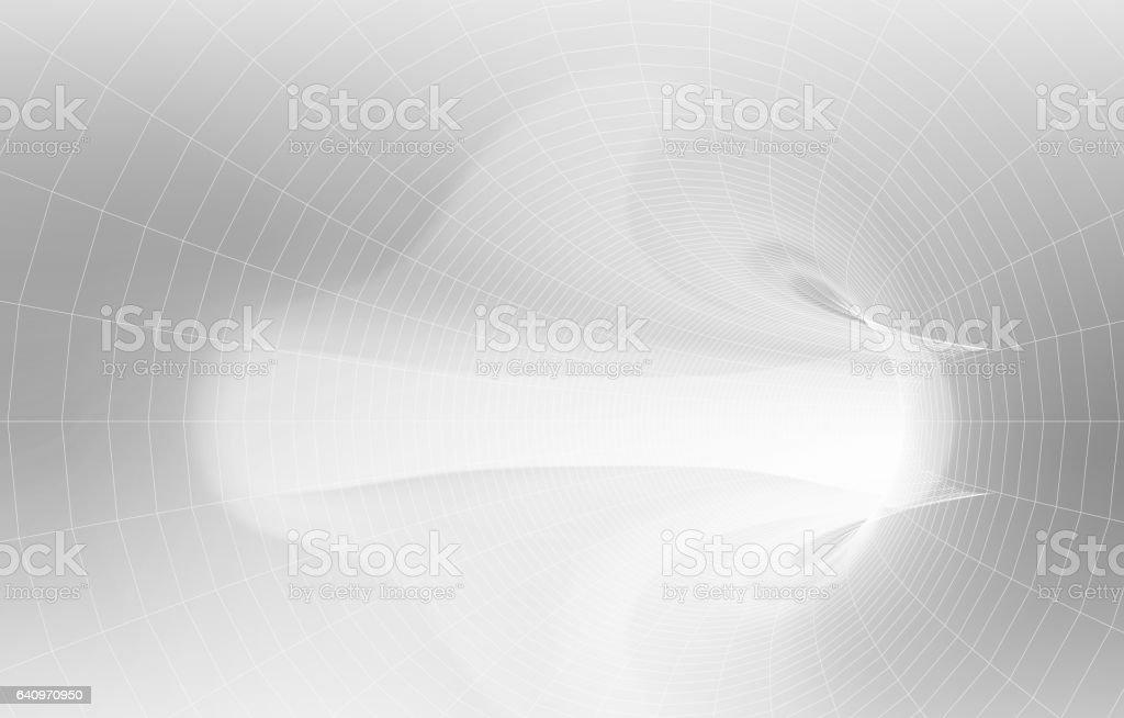 White tunnel interior with soft light vector art illustration