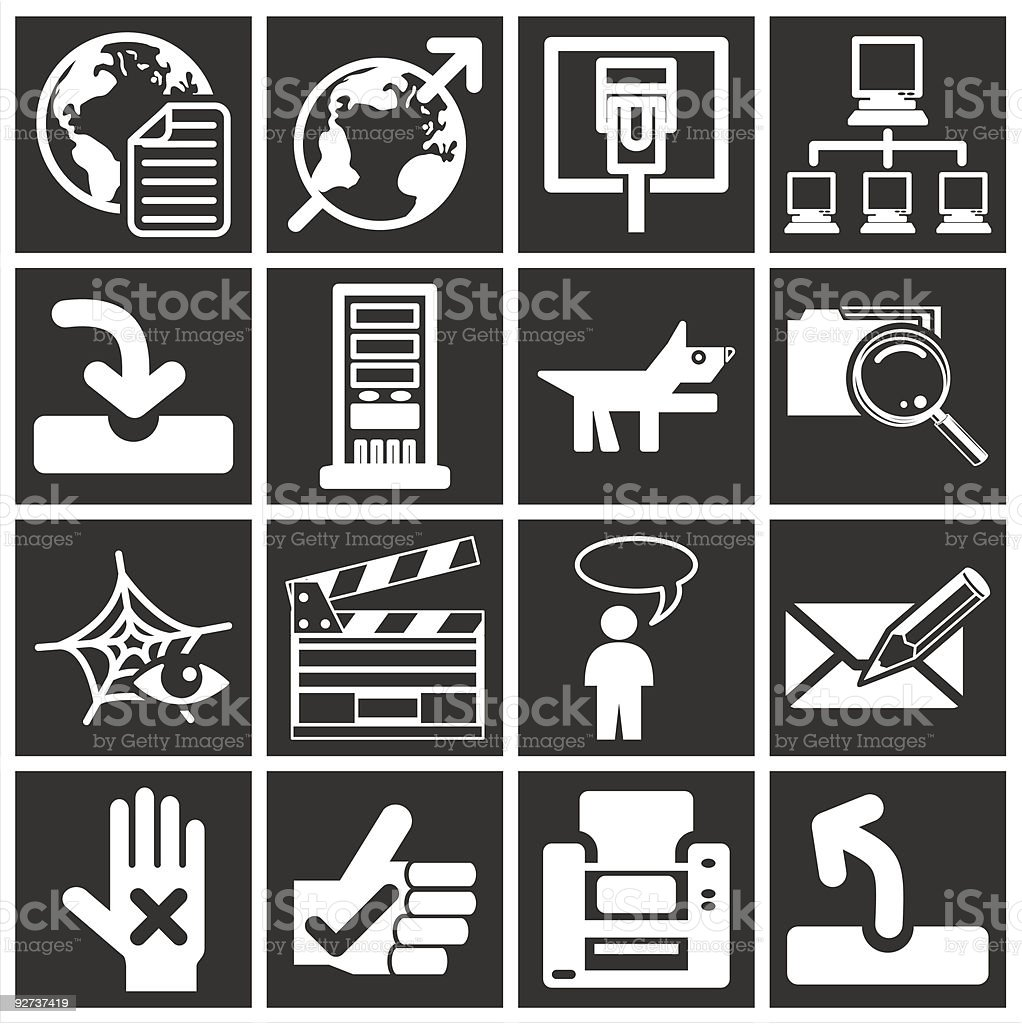 white web icons royalty-free white web icons stock vector art & more images of business