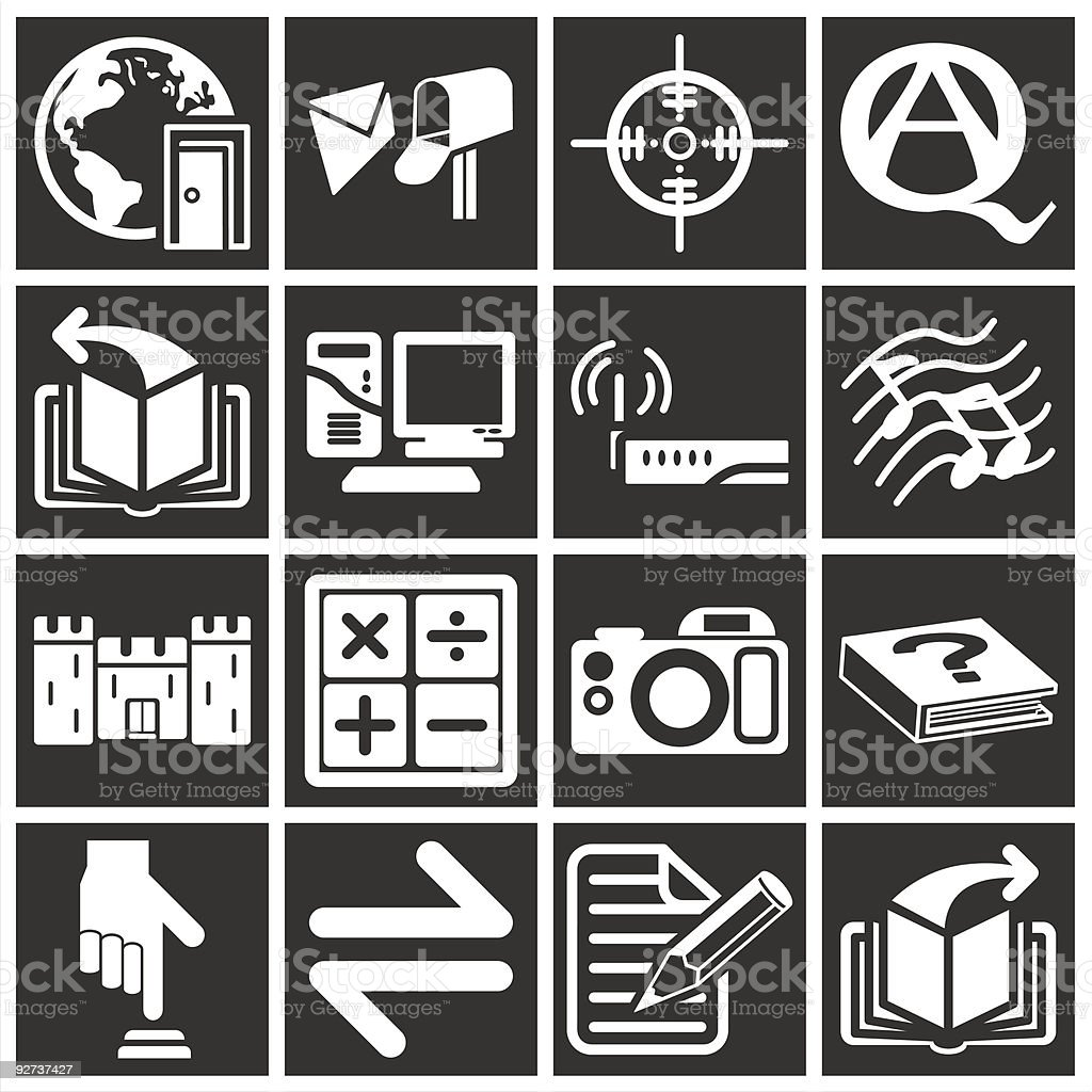 white web icons  Arranging stock vector