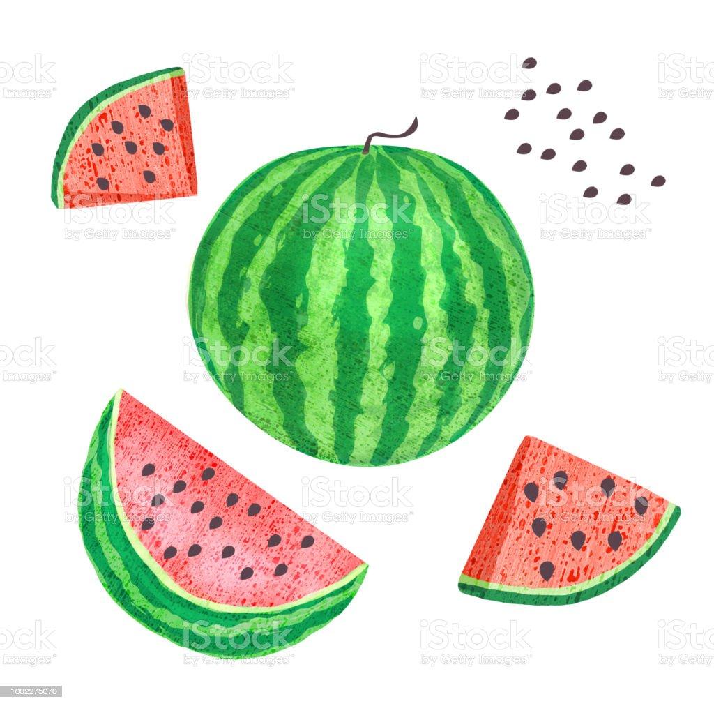 Wundervoll Abnehmen Mit Wassermelone Beste Wahl Ganze Wassermelone, Scheiben Samen Lizenzfreies Ganze Scheiben