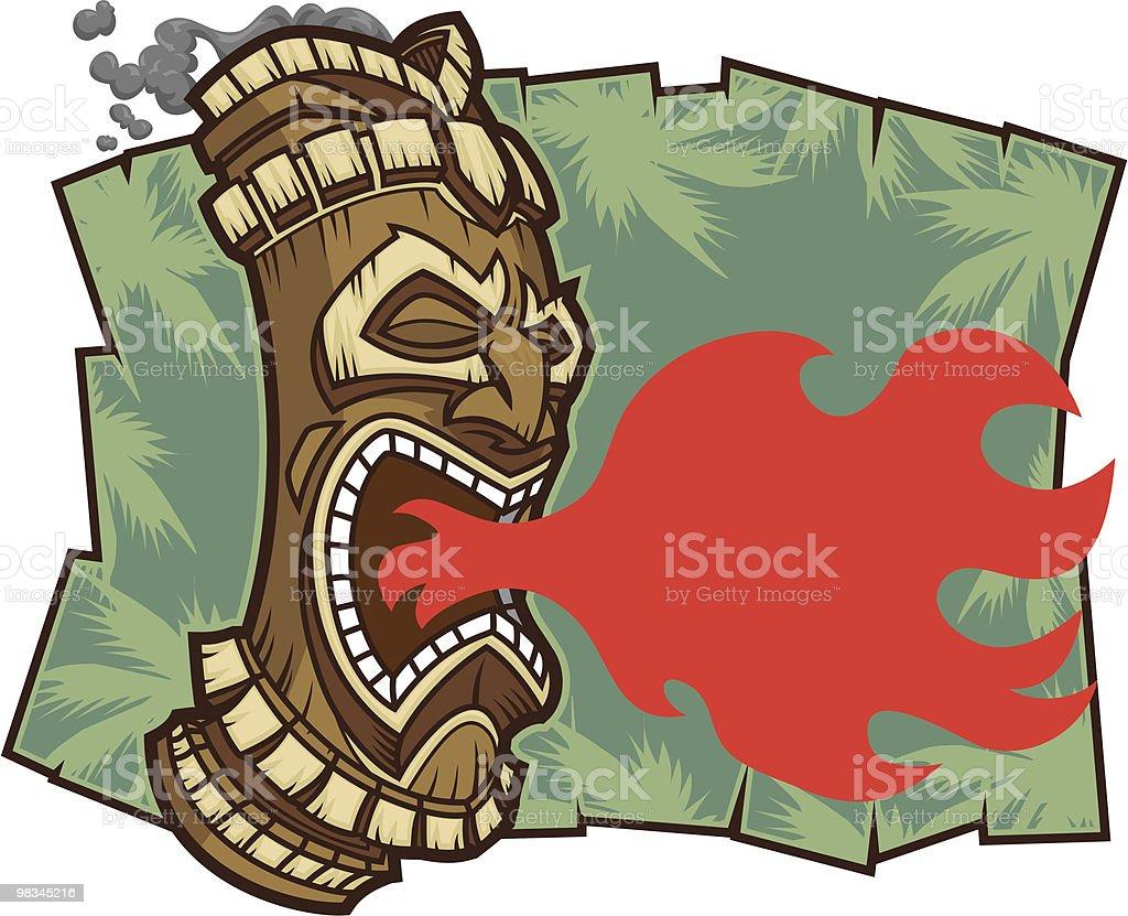 Malvagi Tiki malvagi tiki - immagini vettoriali stock e altre immagini di aggressione royalty-free