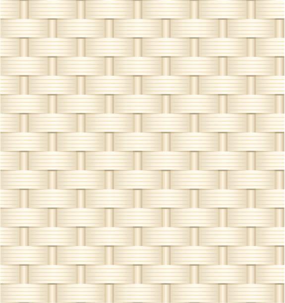 Wicker weave texture vector art illustration