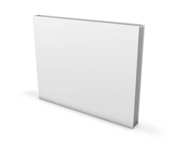 stockillustraties, clipart, cartoons en iconen met brede, vierkant horizontale oriëntatie hardcover boekje, fotoalbum mock up lege omslag. - breed