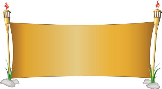 Wide Tiki Tourch Banner