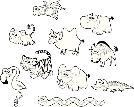 Wild animal family.