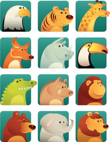Wild Animals Stock Illustration - Download Image Now