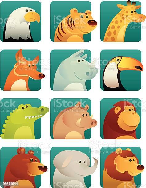 Wild Animals-vektorgrafik och fler bilder på Apa