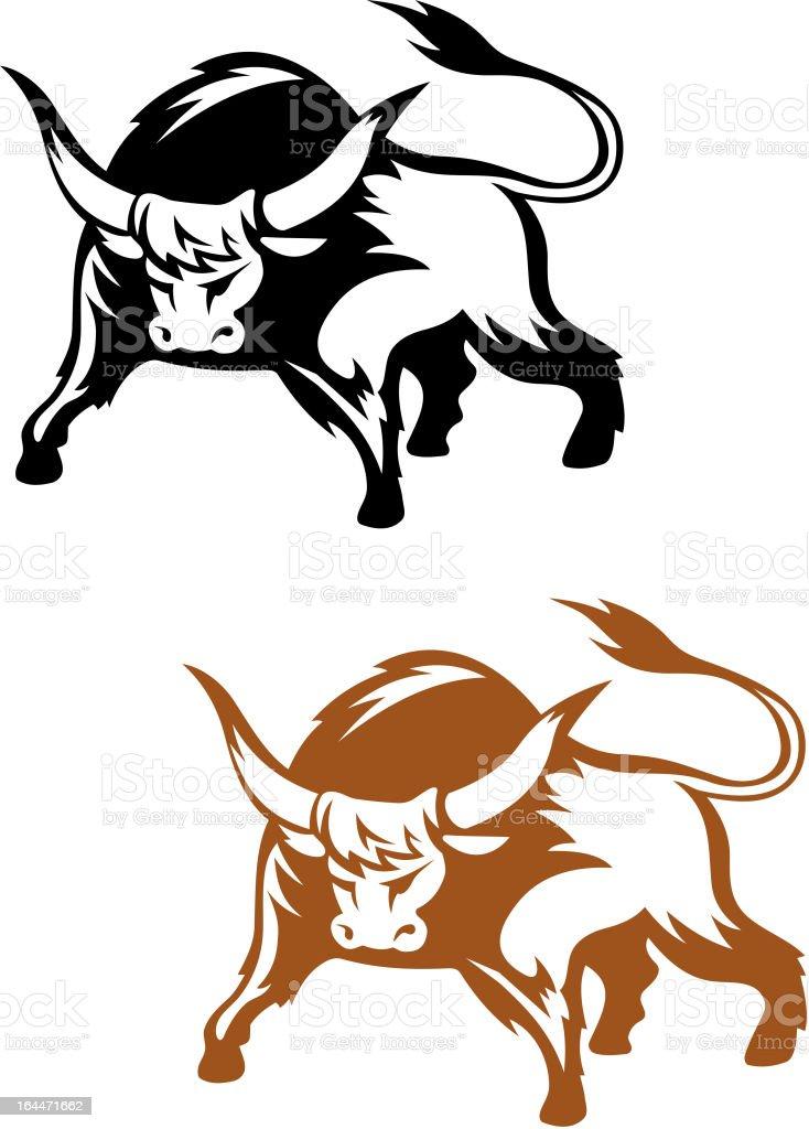 Wild buffalo bull royalty-free stock vector art