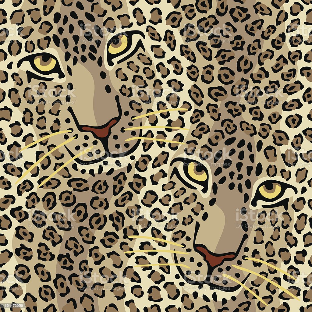 Wild Cat Couple royalty-free stock vector art