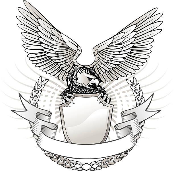 Wild Eagle insignias - ilustración de arte vectorial