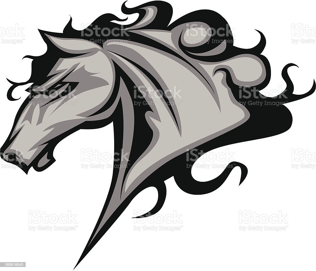 Wild Horse or Stallion Graphic Mascot Vector Image vector art illustration