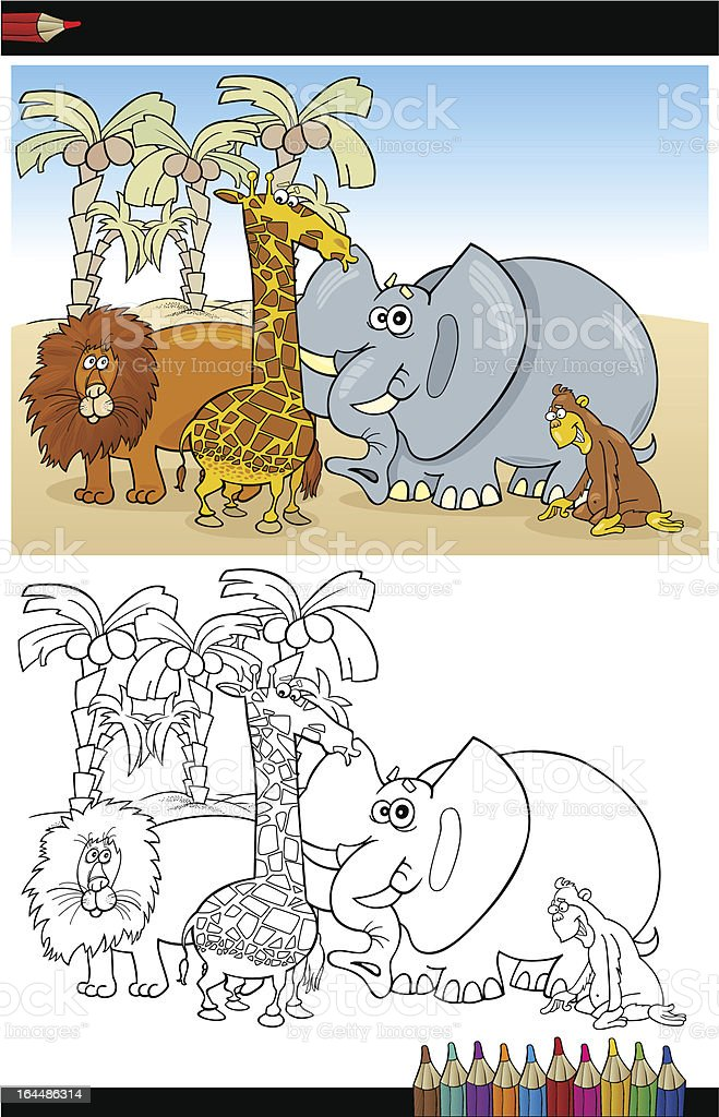 Wild Safari Animals for Coloring royalty-free wild safari animals for coloring stock vector art & more images of animal