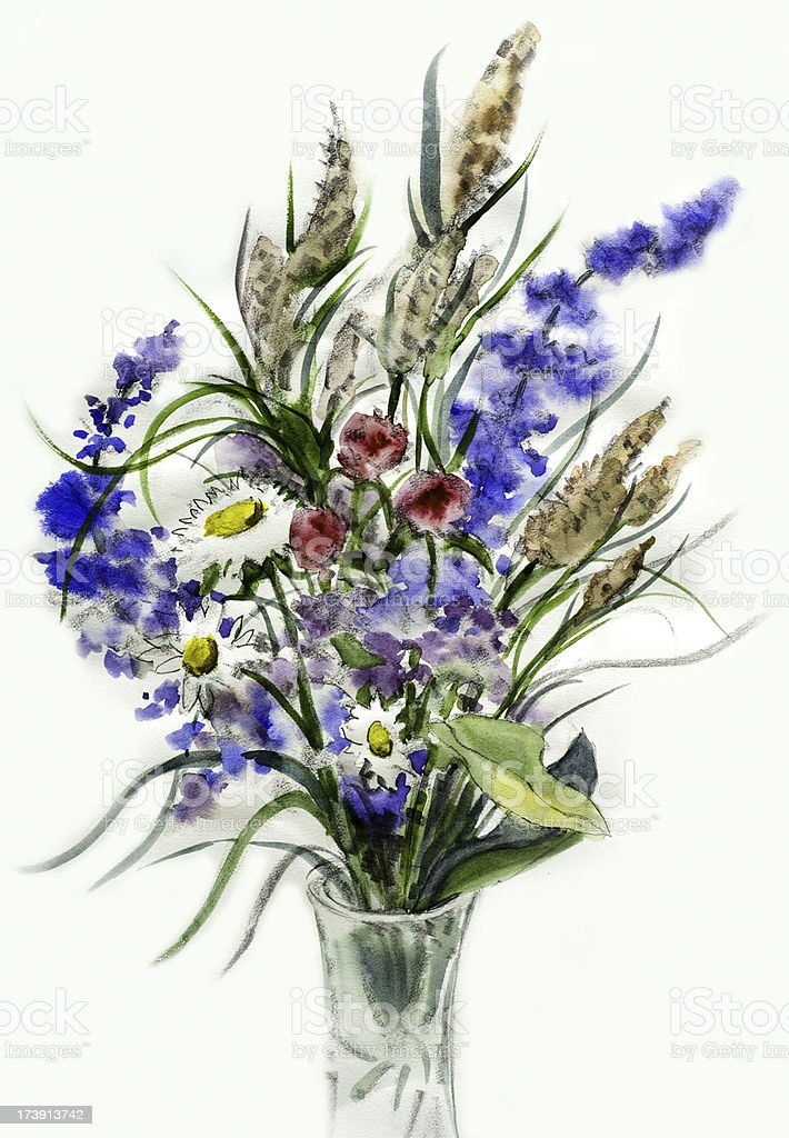 Mazzo Di Fiori Di Campo Immagini.Wildflower Bouquet Stock Illustration Download Image Now Istock